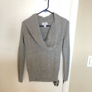Ann Taylor Loft Gray Cowl Neck Sweater Size Small